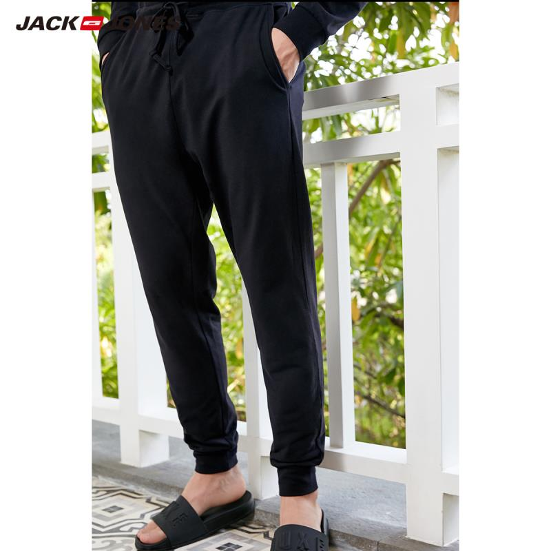 JackJones Men's 94% Cotton Homewear Drawstring Pants Slim Fit Fashion Trousers Jack Jones Menswear Brand Sports 2191HC501