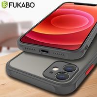 Funda protectora mate a prueba de golpes para iPhone, funda de silicona transparente ultrafina de lujo para iPhone 12 11 Pro Max XS XR X 8 7 Plus SE 2020 originalfunda movil accesorios del teléfono móvil