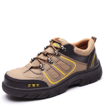 Men Casual Work Shoes Safety Shoes Steel Toe Cap Anti-Smashing Puncture Proof Durable Breathable Protective Work Safety Boots