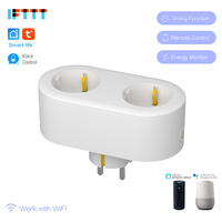 2 In 1 Smart Plug Wifi Smart Socket 16A EU FR KR Plug Outlet Power Monitor Energy Saver Works Google Home Mini Alexa IFTTT