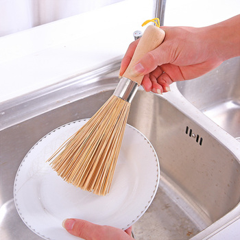 Non-stick oil bamboo wok brush kitchen pot strong polishing Rust Remover scrubber dust broom cleaner Household Cleaning Tools 5