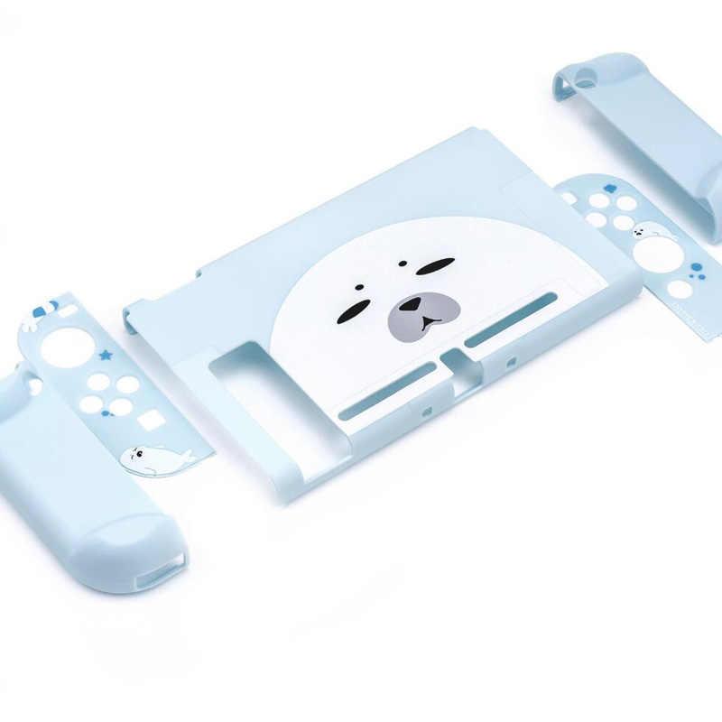 Mignon sceaux chat couleur étui de protection pour Nintendo Switch NS coquille coloré mat dur avant complet couverture arrière jeux accessoires