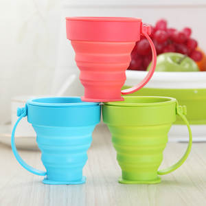 Folding Cup Telescopic Water-Cup Retractable Travel Collapsible Silicone Camping Outdoor