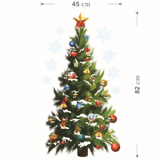 Wall Stickers christmas tree Glass wall sticker decorations home Wall Decals Holiday Wall Decor Stickers PVC home decoration