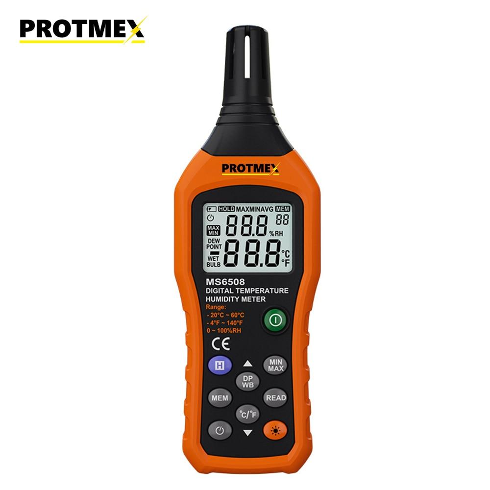 Цифровой измеритель температуры и влажности окружающей среды/влажная лампа/температура точки росы тестер влажности термо-гигрометр 6508