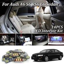 14X белые светодиодные с CANBUS салона комплект ламп для AUDI A6 4F C6 S6 RS6 Седан 2005-2011 Автомобильный светодиодный светильник Интерьер комплект