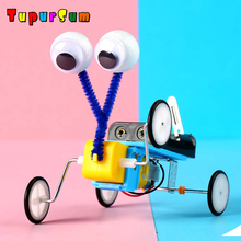 цена Fun DIY Kids Science Technology Experiment Toy RC Robot Reptile Model Construction Kit Invention STEM Education School Project