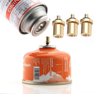 Gas Refill Adapter Filling Butane Canister Outdoor Camping Stove Gas Cylinder Gas Tank Burner Accessories Mini Inflation Valve