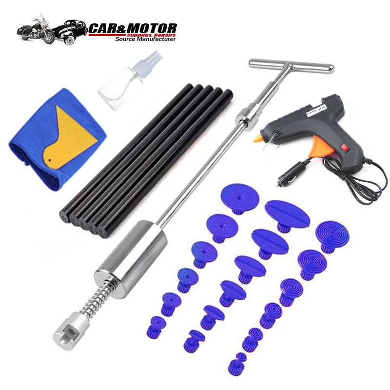 Pdr Tools Paintless Dent Repair Dent Puller Kit Dent Removal Slide Hammer Glue Sticks Reverse Hammer Glue Tabs For Hail Damage