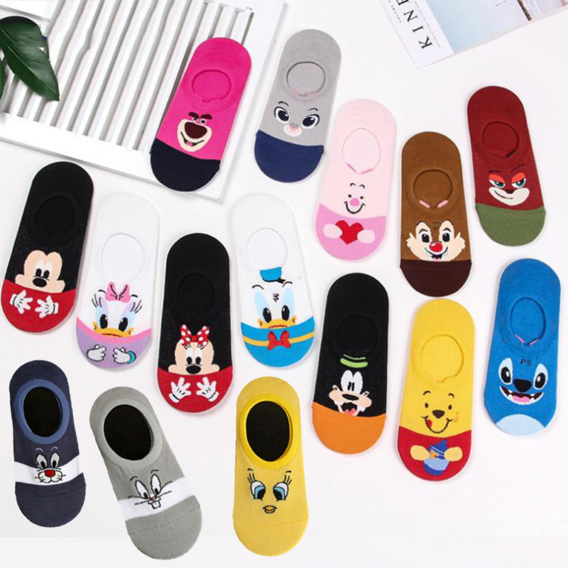 Summer Korea Women Socks Cartoon Cat Fox Mouse Cute Animal Funny Ankle Socks Cotton Invisible Sock Christmas Gifts Dropshipping