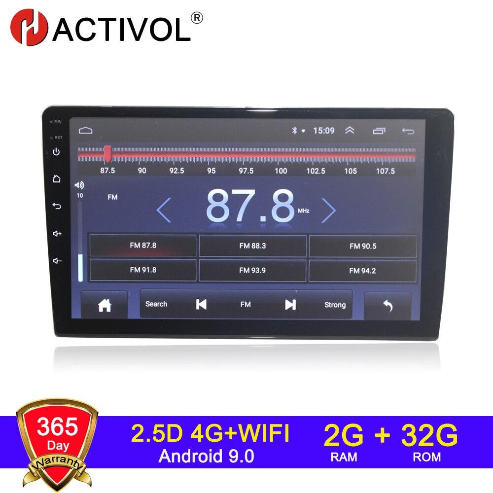 Автомагнитола HACTIVOL, 2 + 32 ГБ, Android 9,1, 4G, для 9/10,1 дюймов, Универсальный сменный автомобильный dvd-плеер, gps-навигатор, 2 din, автомобильный аксессуар