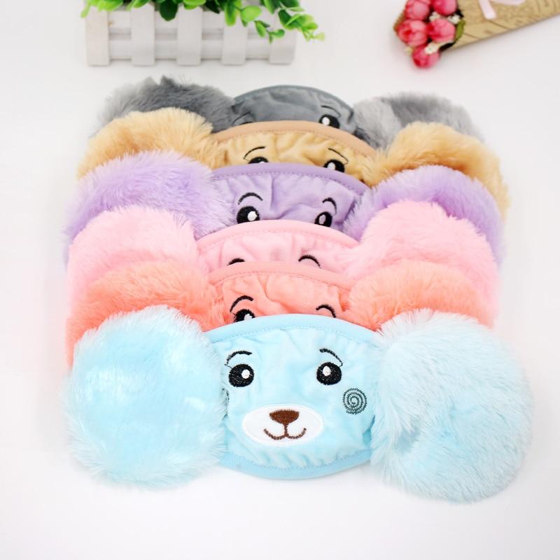 New Autumn Winter Plush Earmuffs Children Cartoon Ear Protectors Cotton Bear Student Warm Earmuffs Unisex Ear Cover
