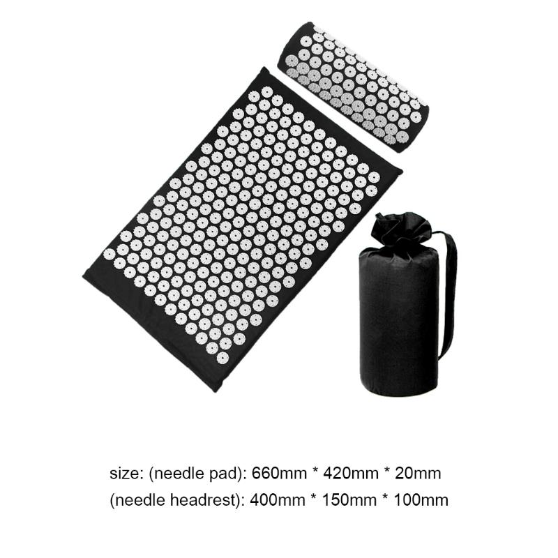 Acupressure Massage Mat with Pillow set to body Relaxation to Release Stress and Tension 41