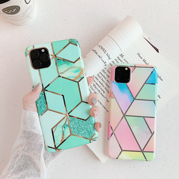 Marble Plating Case for iPhone SE (2020) 3