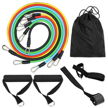 11pcs Fitness Resistance Bands Set Workout Fintess Exercise Tube Band with Carry Bags Fitness Resistance Bands Gym Home Exercise oushi multifunctional resistance bands 11pcs set