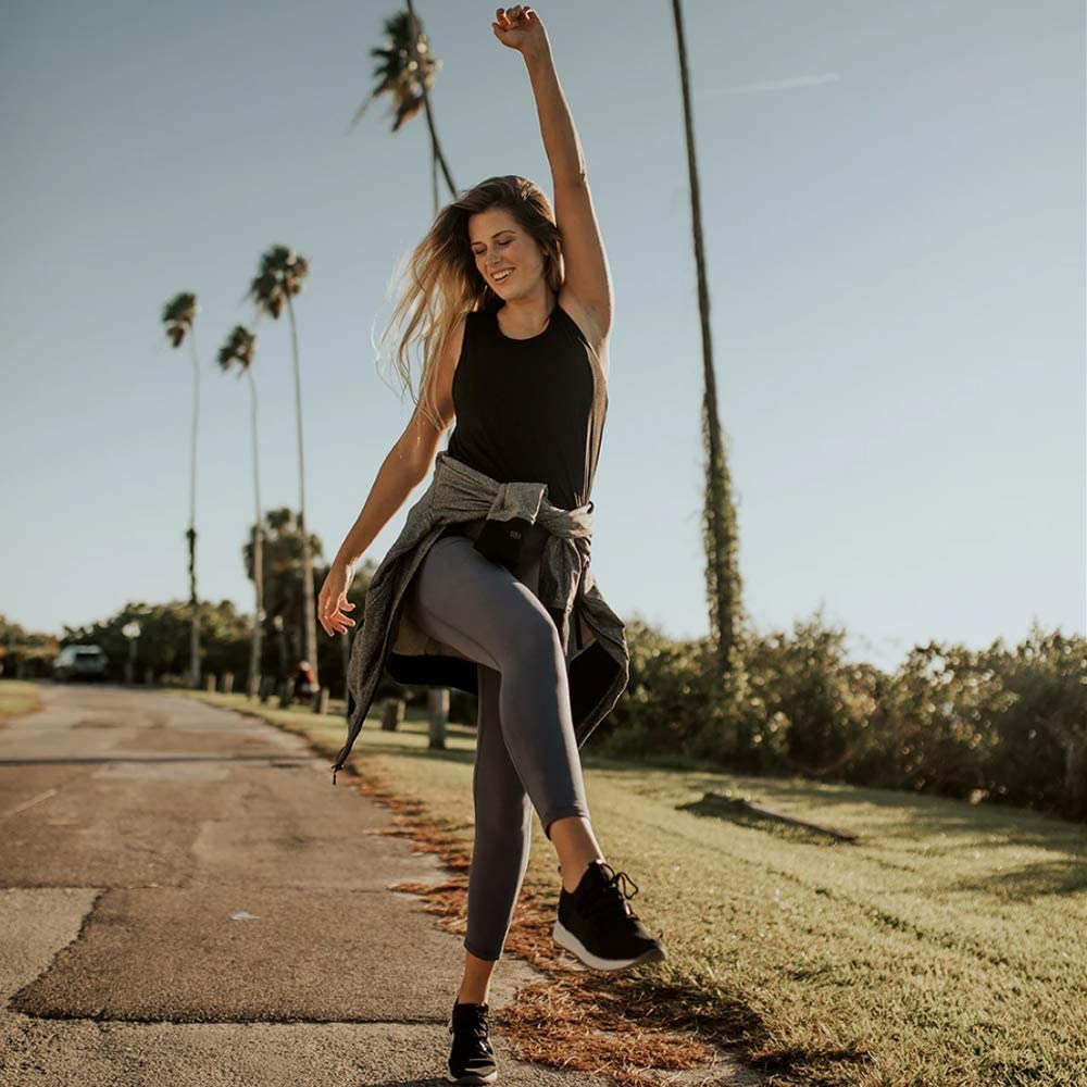 נקבה חותלות כושר ריצה יוגה מכנסיים גבוהה מותן חלקה תרגיל חותלות כושר בגדי ילדה חותלות