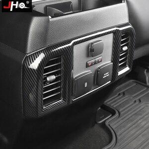 Image 4 - JHO ABS Carbon Korn Hintere Center Konsole Panel Vent Outlet Abdeckung Trim Für Ford F150 RAPTOR 2015 2020 2018 2019 2017 zubehör
