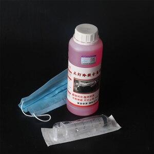 Image 3 - 500ml Car Headlight Polishing Repair Scratch Glass Refurbishmen Headlight Restoration Hydrophobic Vehicle Cold Glue Tool