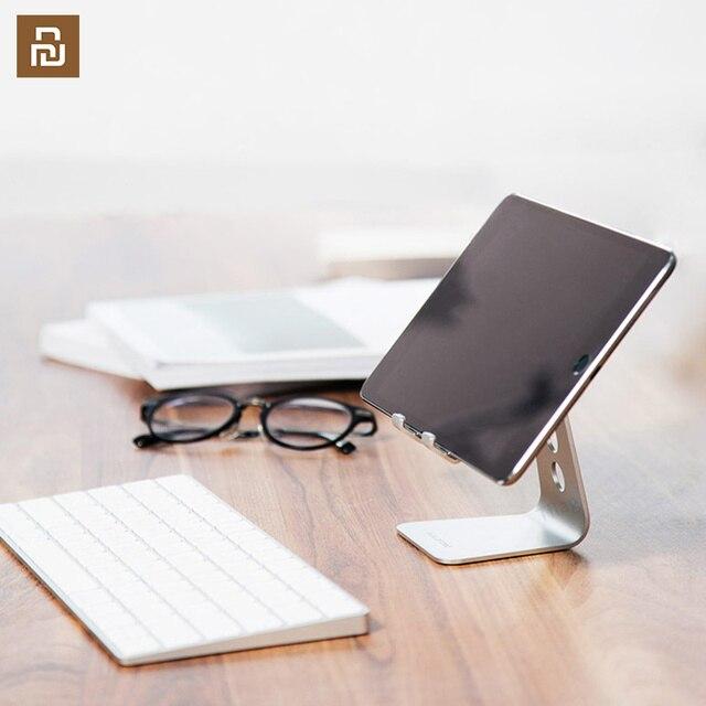 Suporte do telefone móvel tablet desktop suporte do telefone estável sem agitação de alumínio 7/12 polegadas para o escritório casa