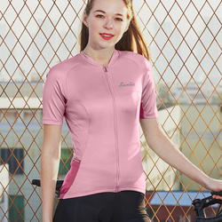 Santic Women Cycling Jersey Pro Fit Ladies Road MTB Jersey Bike Bicycle Short Sleeve Summer Ciclismo Asian Size S-3XL K9L2081