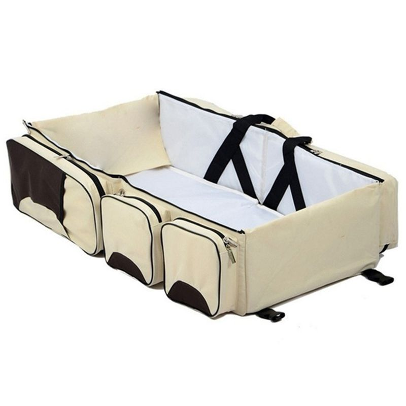 Baby 3 In 1 Multi-functional Diaper Bags Travel Bassinet - Portable Bassinet & Changing Pad Station
