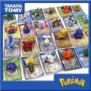 Takara tomy pokemon bonecas com cartões coleção brinquedos para crianças batalha negociação figura cartão de jogo cartões ouro figuras ação