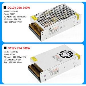 Image 5 - امدادات الطاقة DC12V 1A 2A 5A 8.3A 10A 15A 16.7A 20A 25A 30A 33A 40A 50A محولات الإضاءة LED سائق ل LED قطاع التبديل