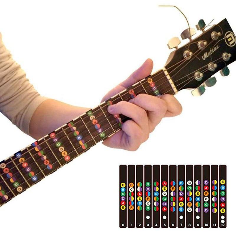 Guitar Sticker Guitar Fretboard Notes Labels Sticker Guitar Parts Fingerboard Fret Decals Acoustic Electric Guitar Accessories