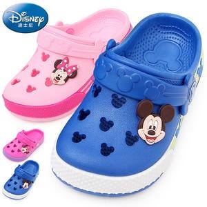 Véritable Disney Minnie Mickey Mouse chaussures enfants trou chaussures enfants bébé garçon filles pantoufles enfants chaussures de plage(China)
