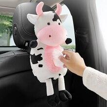 Tissue-Box Animals Napkin-Holder Car-Paper-Boxes Car-Seat Cow-Hanging Cartoon Cute Soft