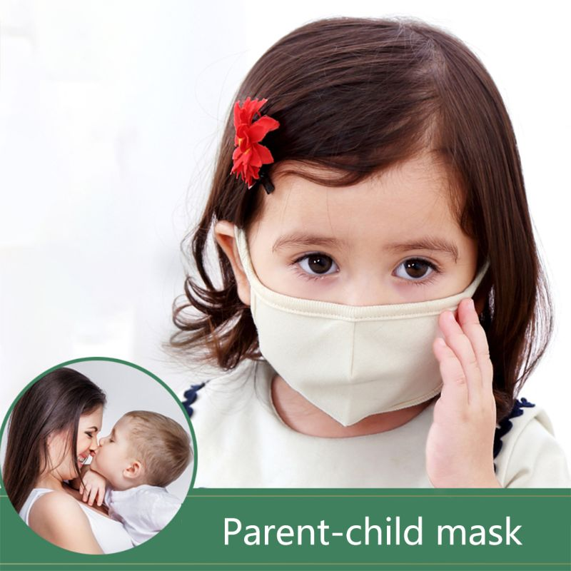 1Pc Baby Kids Children Adult Cotton Mask Anti-Dust PM2.5 Anti-Fog Breathable Washable Reusable Outdoor Mouth-Muffle Respirator