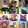 HUACAN Painting By Number Dog Animal Handpainted Home Decoration Pictures By Number Cat Drawing On Canvas Wall Art Handmade Gift