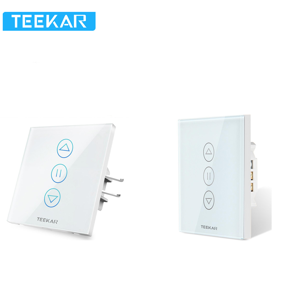 Teekar 3rd/4th Gen WiFi Smart Curtain Switch Tuya Fr Electric Motorized Curtain Blind Roller Shutter Work With Alexa Google Home
