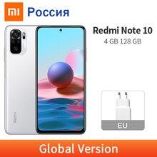 Versão global xiaomi redmi nota 10 4gb 128gb snapdragon 678 octa núcleo amoled dotdisplay 48mp câmera do telefone móvel note10 5000mah