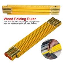 1 шт. измерительные инструменты 200 см деревянная измерительная линейка складная линейка деревянный плотник Метрическая