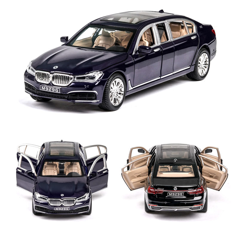 1:24  BMW-760LI Car Model Alloy Car Die Cast Toy Car Model Pull Back Children's Toy Collectibles Free Shipping