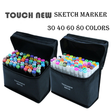 цена на TOUCHNEW 30/40/60/80/168 Color Markers Manga Drawing Markers Pen Alcohol Based Sketch Oily Dual Brush Pen Art Supplies