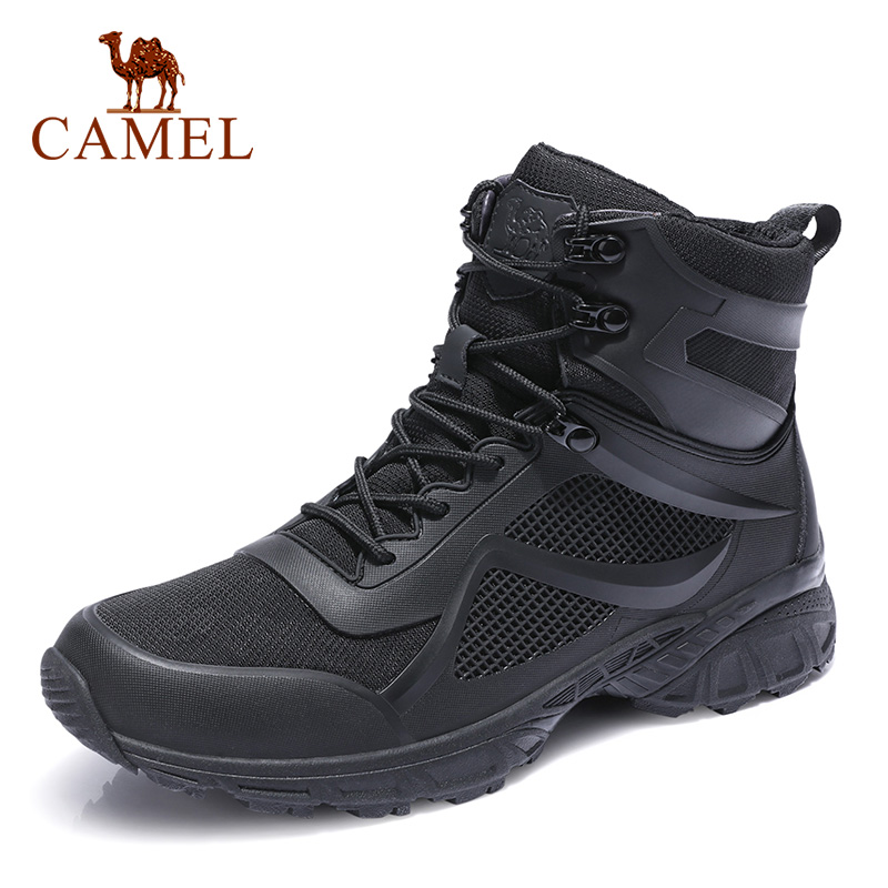 CAMEL Winter Mens Shoes Warm Genuine Leather Outdoor Hiking Men  Boots Non slip Soft Mens Cotton Snow Boots WaterproofBasic Boots   -