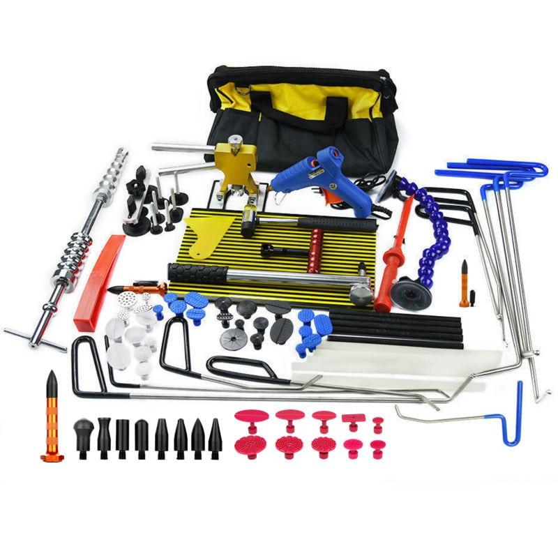 PDR Tools Rods Hooks Dent Puller Dent Lifter Lamp Light Slide Hammer Car Dent Remover Kit Glue Stick Removal Hail Rods Tool Set