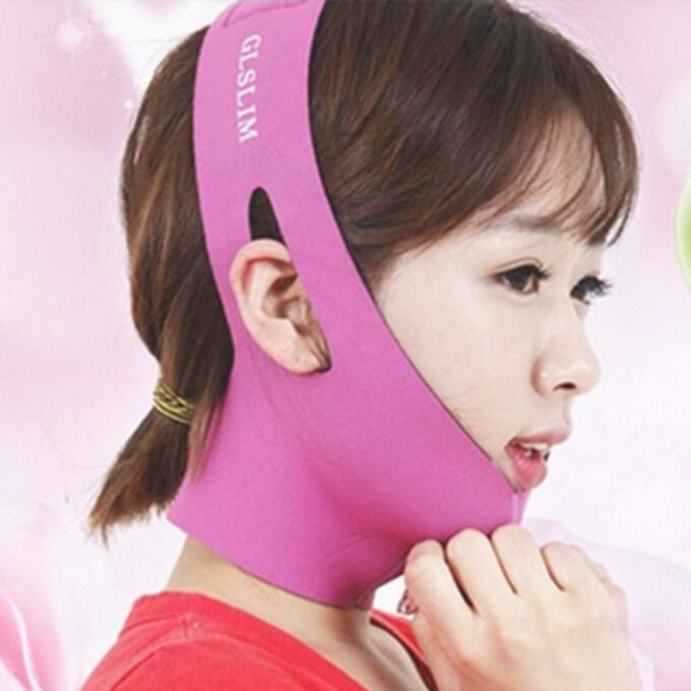 Face Slim V-Line Lift Up Mask Cheek Chin Neck Slimming Thin Belt Strap Beauty Delicate Facial Thin Face Mask Facial MassagerTool