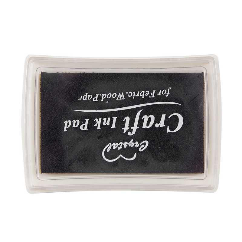 Almohadilla de tinta negra almohadilla goma sello dedo impresión artesanía no tóxico bebé seguro