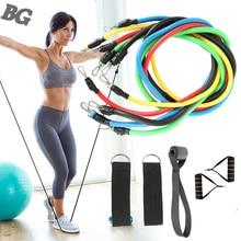 11pcs/комплект Домашний фитнес тянуть веревку тренировки упражнения сопротивление группы установить йога тренировки группы фитнес оборудование