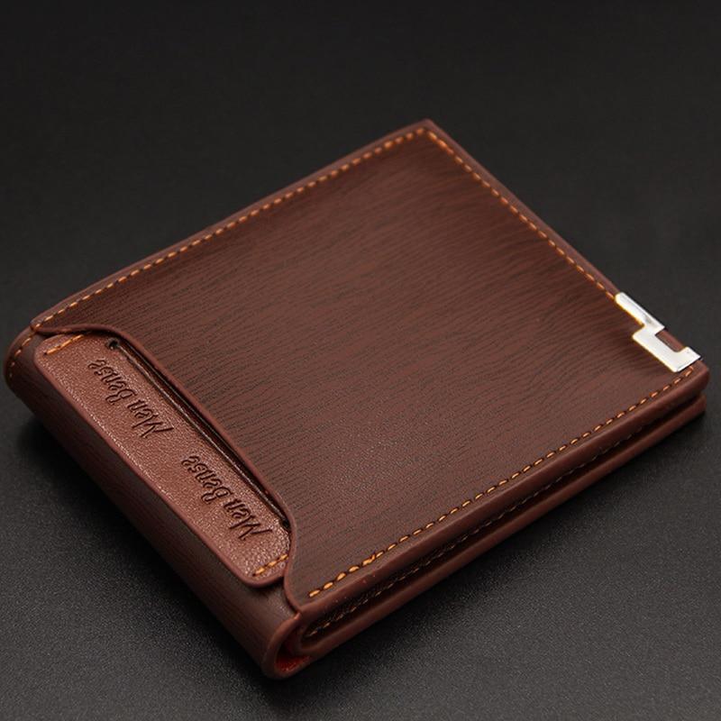 Solide portefeuille en cuir pour hommes court sac à main design pour homme porte-carte de crédit mâle Dollar sac dargent