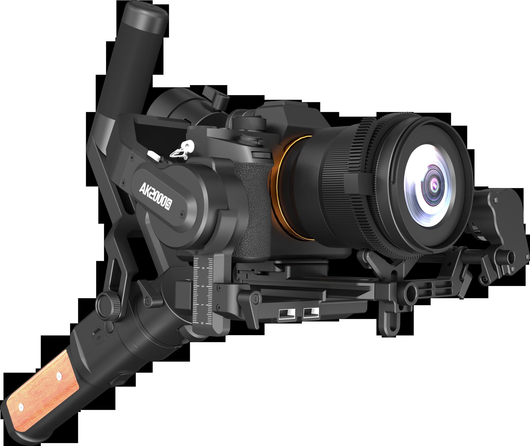 Feiyu AK2000 S 3 оси ручной карданный стабилизатор для sony Canon Panasonic Nikon беззеркальных и DSLR цифровой камеры Smart Touch