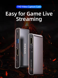 Unnlink USB3.0 Game Capture Card Video Capture 4K Input 1080P Record Live Streaming Mic 3.5 for Camera PC PS3 PS4 TV xbox switch