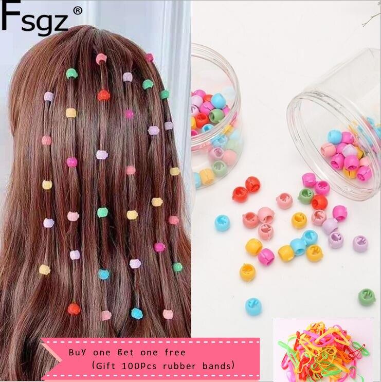 80 PCS Mini Hair Claw Clips For Women Girls Cute Candy Colors Plastic Hairpins Hair Braids Maker Beads Headwear Hair Accessories