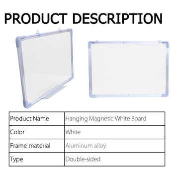 Hanging Double Side Magnetic Whiteboard Drawining White Board Office School Message Writing Bulletin Board With Black Marker Pen - DISCOUNT ITEM  48 OFF All Category
