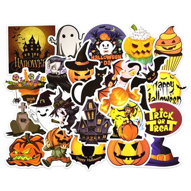 25PCS Happy Halloween Christmas Scrapbook Stationery Stickers Planner Calendar Agenda School Art Craft Supplies