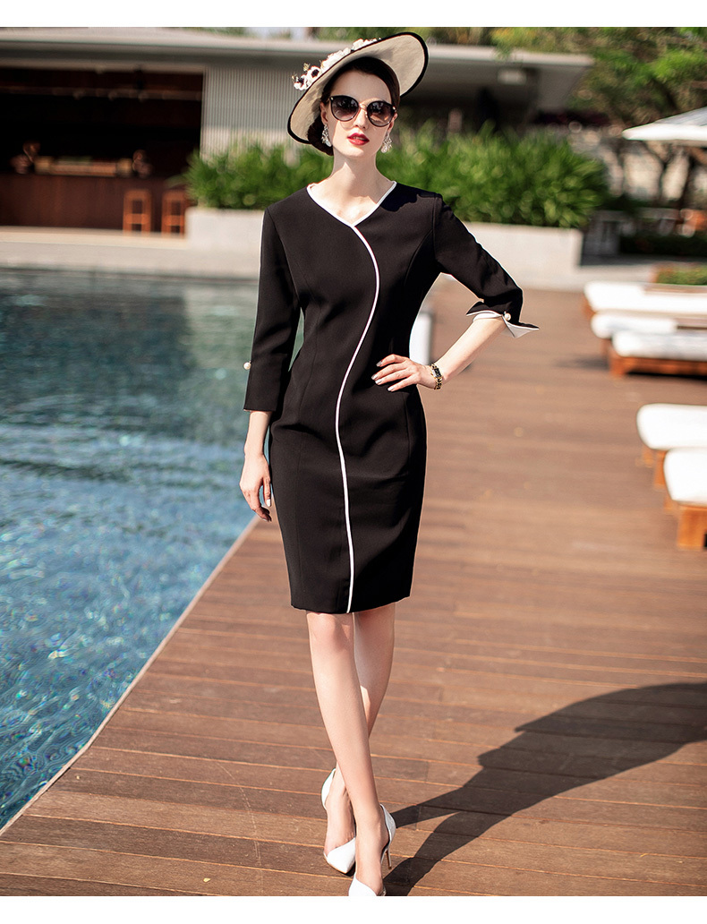 2020 Spring Summer Autumn Elegant Office Lady Formal Work Wear Slim Sexy Korean Fashion Casual Party Dress Women Clothes