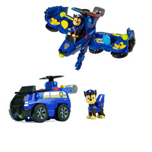 Paw patrol 2 in 1 flip deformation aircraft toy vehicle can transform bulldozer into jet toy PVC action diagram model birthday